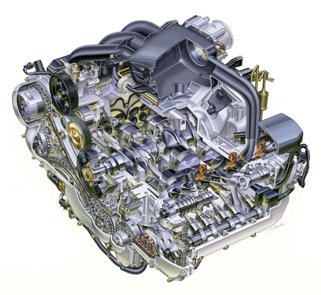 subaru engine cutaway  subaru  free engine image for user
