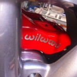 closeup of the wilwood caliper